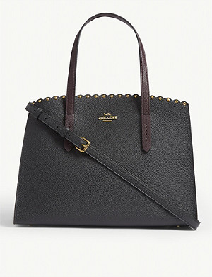 COACH Parker studded leather tote