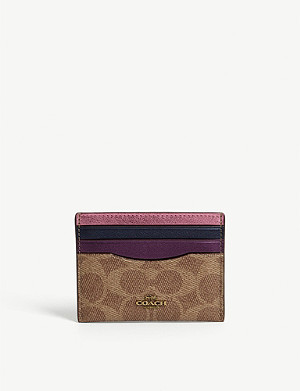 COACH Monogram leather card holder