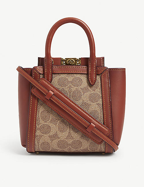 COACH Monogram printed Troupe leather tote