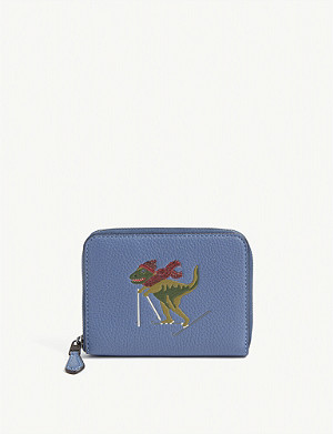 COACH Rexy ski small leather wallet