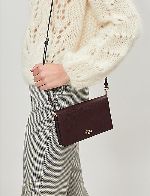 COACH Pebbled leather cross-body bag