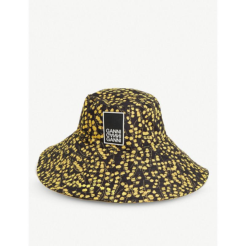 2510c1f311d5 Ganni AppliquÉD Floral-Print Shell Bucket Hat In Black | ModeSens
