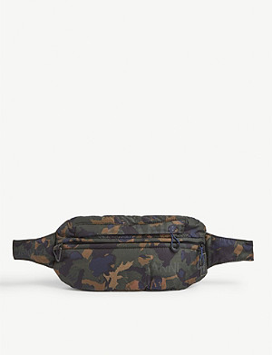 GANNI Technical fabric camouflage print belt bag