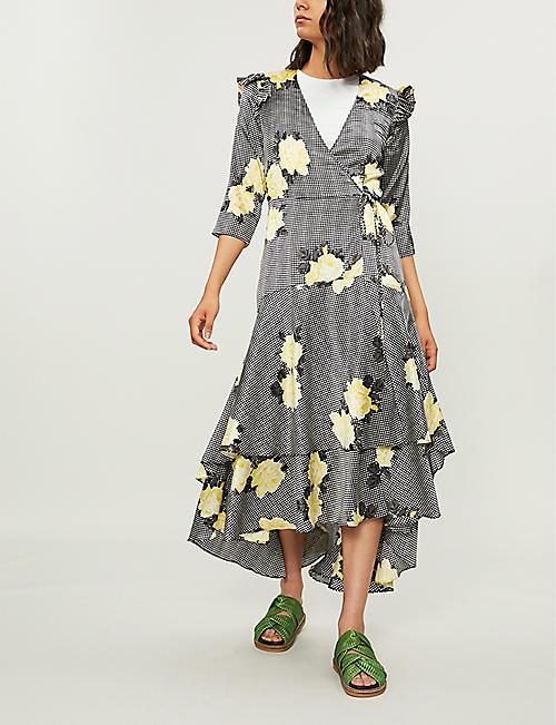 f43e35f1e739f3 GANNI - Calla leopard-print stretch-silk wrap dress