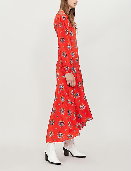 5862ae742e3 GANNI - Kochhar floral-print silk midi dress