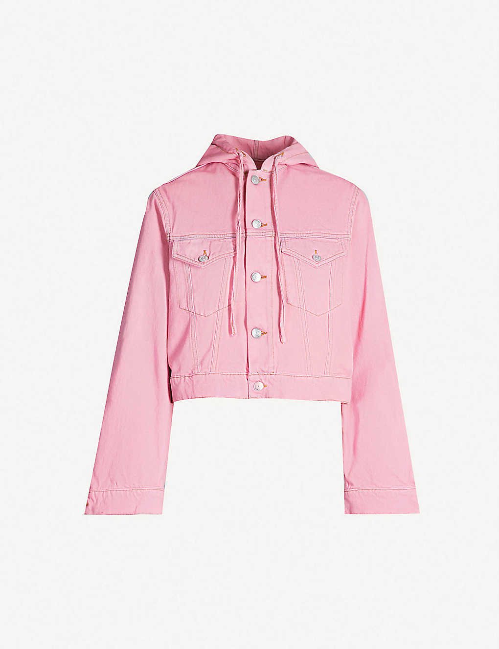 08a222f674f GANNI - Hooded cropped denim jacket | Selfridges.com