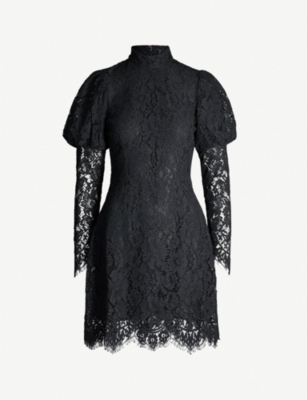 GANNI Everdale floral stretch-lace dress