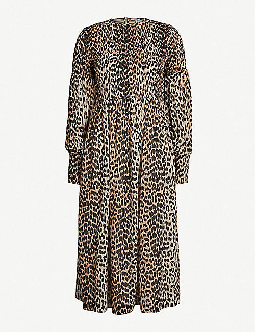 78091248 GANNI - Mullin georgette dress | Selfridges.com