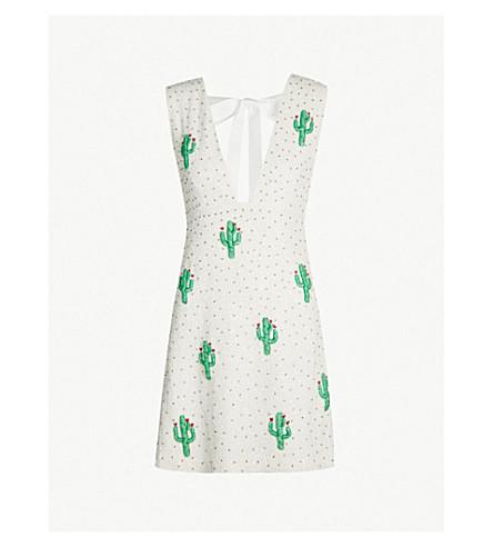 b7817d3668 GANNI Merigold cactus sequinned dress (Egret