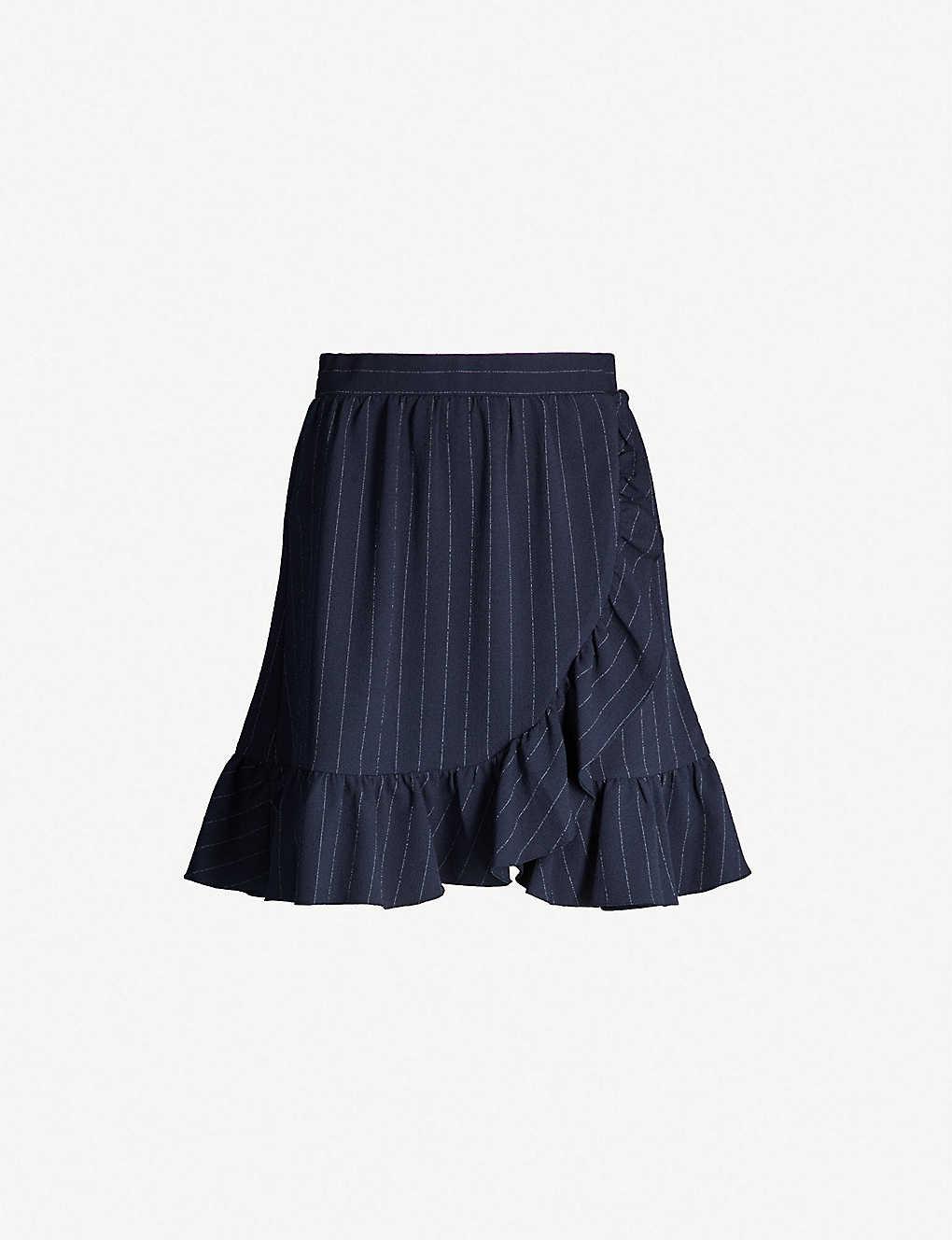 3097bbdc GANNI - Pinstriped high-waist crepe mini skirt | Selfridges.com