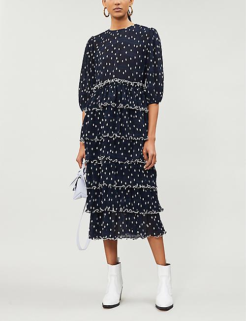 b57ef5578251 GANNI Lowell ruffled polka-dot chiffon dress