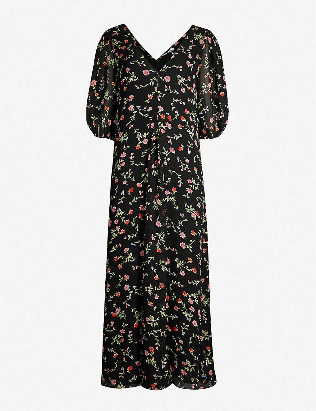 c8a84435 GANNI - Elm floral-print georgette tunic dress | Selfridges.com