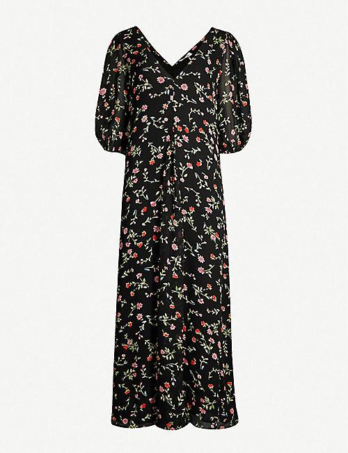 d4f526b70bb GANNI Elm floral-print georgette tunic dress