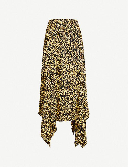 74d2642105e0 GANNI Goldstone floral-print crepe skirt