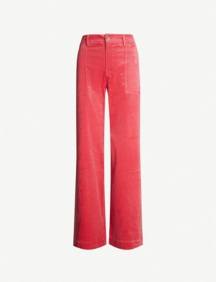 GANNI Ridgewood relaxed high-rise corduroy jeans