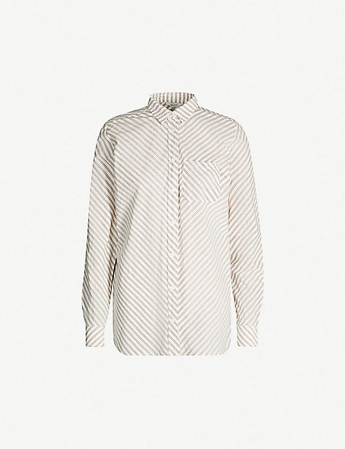 GANNI Striped cotton shirt