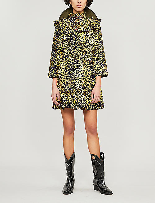 d38ee4aac45 GANNI Bijou leopard-print cotton dress