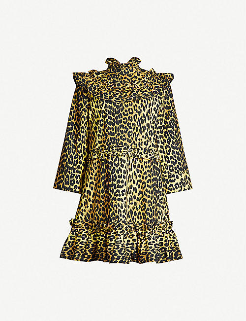 b3293e7e35 GANNI Bijou leopard-print cotton dress