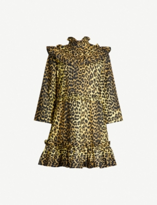 GANNI Bijou leopard-print cotton dress
