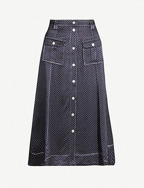f071d6e5cd7a GANNI - Skirts - Clothing - Womens - Selfridges | Shop Online