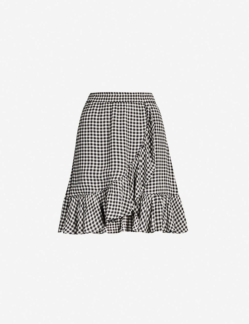 3882b64f GANNI - Gingham high-rise woven skirt | Selfridges.com