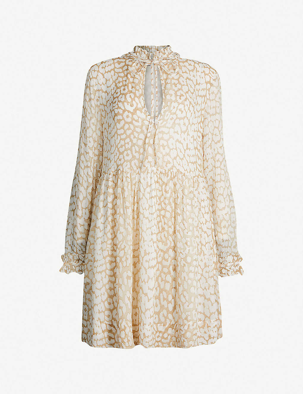 4f5f7cfb GANNI - Leopard-print georgette mini dress | Selfridges.com