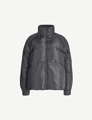 GANNI High-neck quilted shell-down jacket