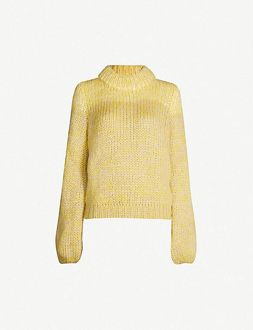 ef8777538afd GANNI Julliard mohair and wool-blend jumper