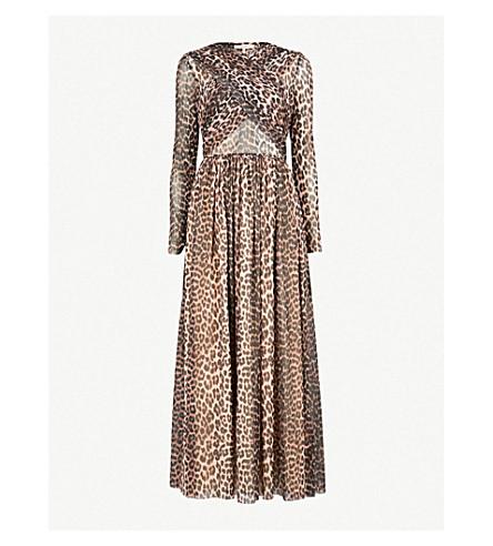 10a020dcb42 GANNI Tilden chiffon maxi dress (Leopard