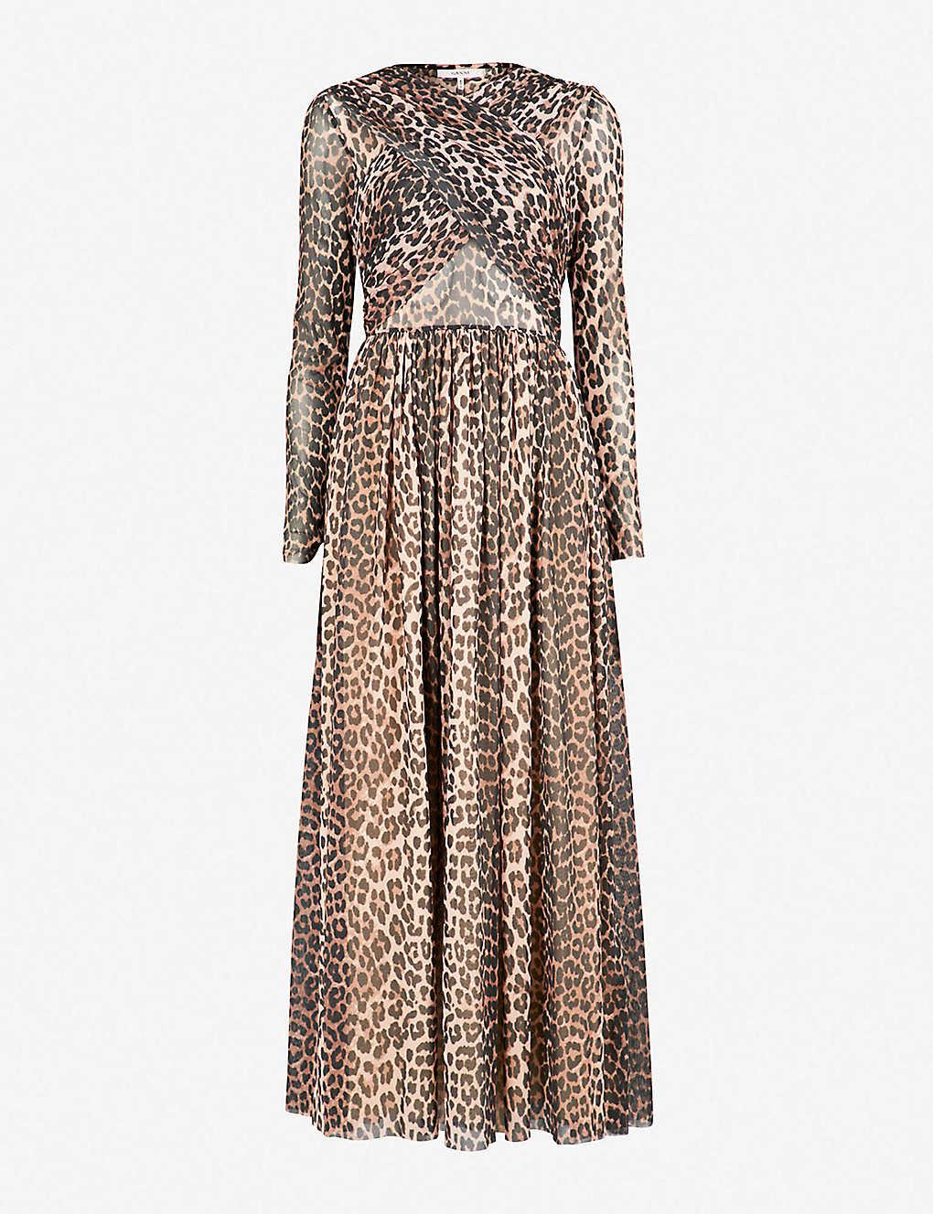 38f9b181c78973 GANNI - Tilden chiffon maxi dress | Selfridges.com