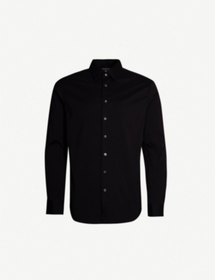 SMYTH & GIBSON Slim-fit stretch-cotton shirt