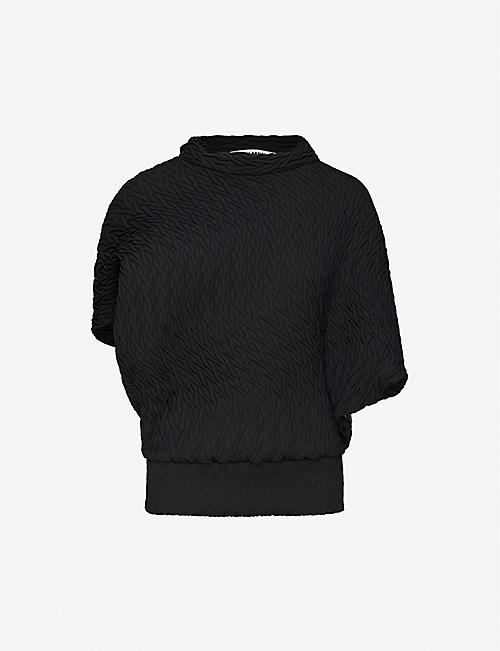 ISSEY MIYAKE Billow abstract-texture woven top