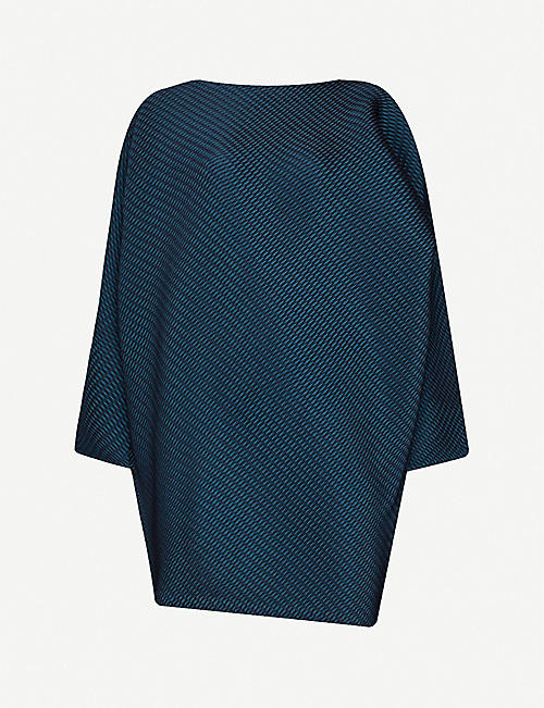 ISSEY MIYAKE Boat-neck relaxed-fit woven top
