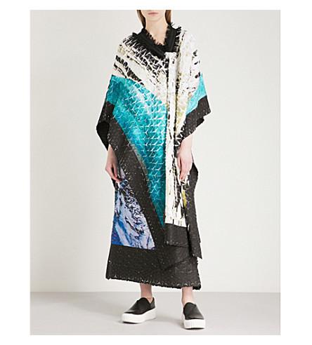 Issey Miyake Digital-print pleated kimono dress