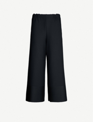 ISSEY MIYAKE Wide mid-rise pleated cropped trousers