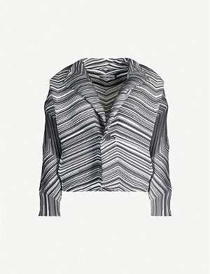 ISSEY MIYAKE Dotted Line pleated crepe jacket