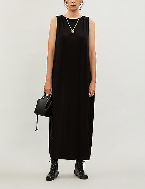 ISSEY MIYAKE Scoop-neck sleeveless stretch-jersey slip dress