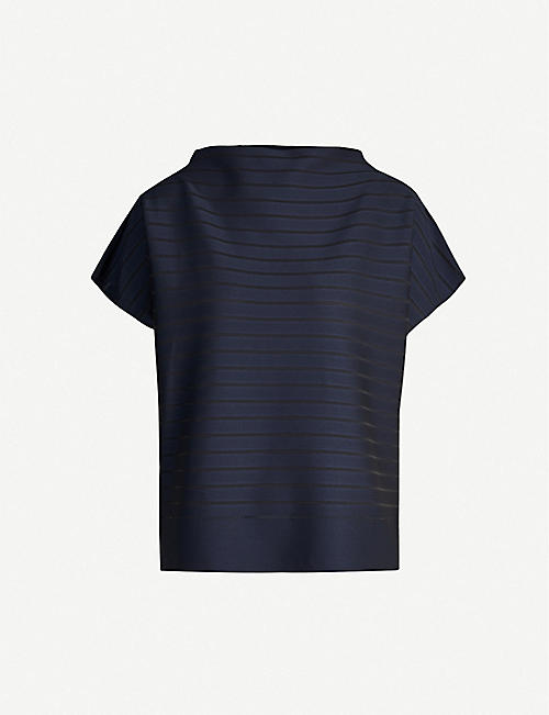 ISSEY MIYAKE Striped relaxed-fit nylon-blend top