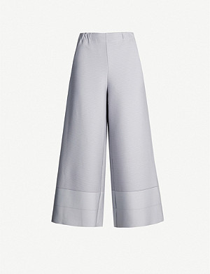 ISSEY MIYAKE Wide-legged ribbed stretch-jersey trousers