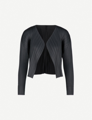 PLEATS PLEASE ISSEY MIYAKE Open-front pleated jacket