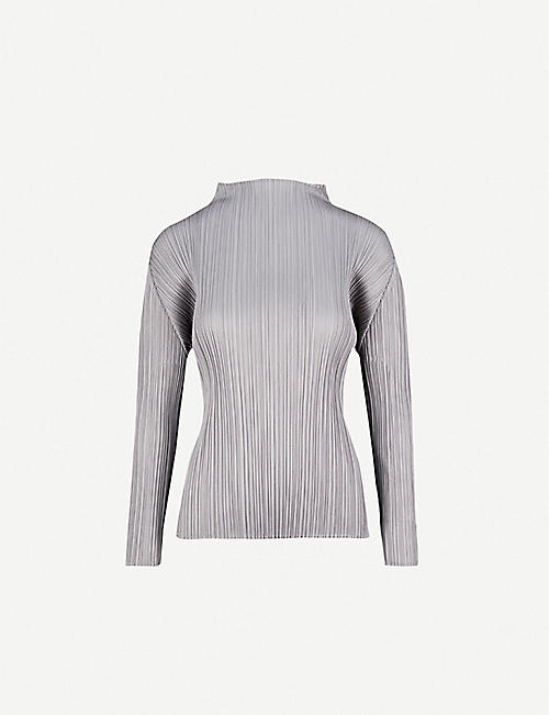PLEATS PLEASE ISSEY MIYAKE High-neck pleated top 1d6c765042a41