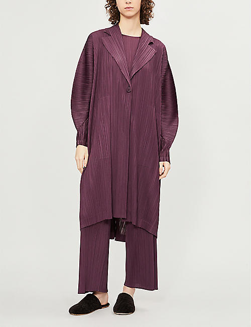 PLEATS PLEASE ISSEY MIYAKE Monthly V-neck pleated coat