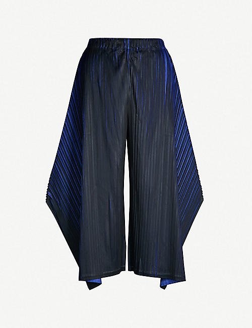 a000bf3391 PLEATS PLEASE ISSEY MIYAKE Alt Neon wide-leg cropped pleated trousers