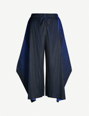 PLEATS PLEASE ISSEY MIYAKE Alt Neon wide-leg cropped pleated trousers