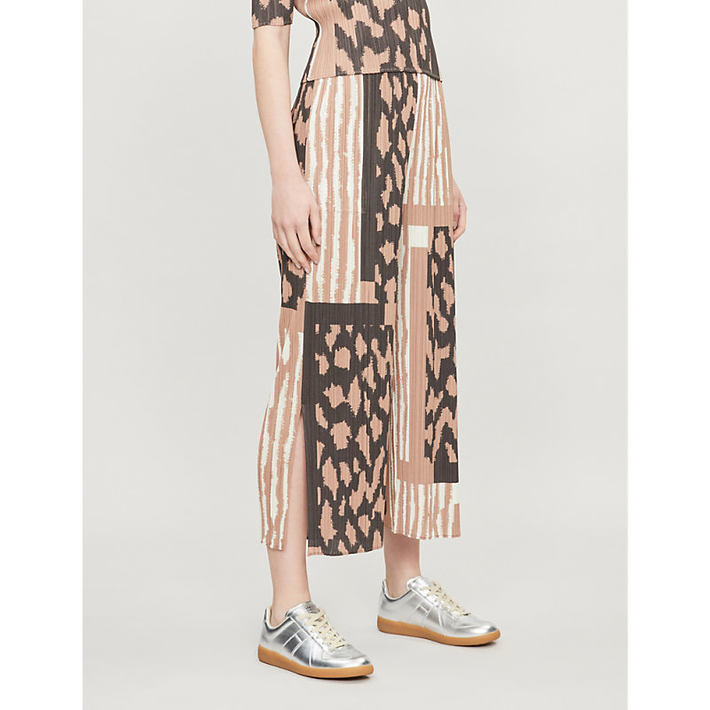 822a8ba206 Pleats Please Issey Miyake Cropped High-Rise Pleated Trousers In Warm Beige