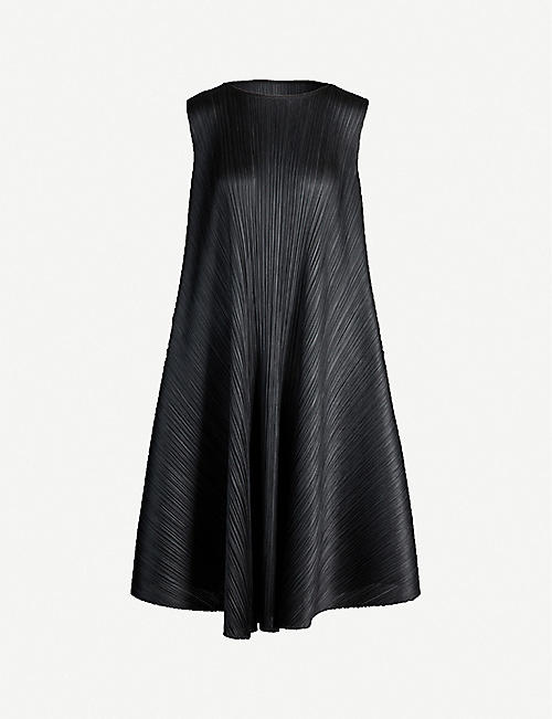 new concept 1b262 ff0a8 PLEATS PLEASE ISSEY MIYAKE Luster boat-neck asymmetric pleated midi dress