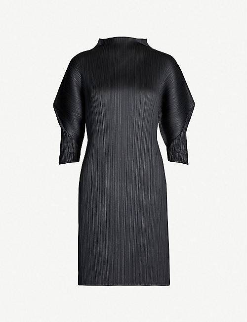 PLEATS PLEASE ISSEY MIYAKE Puffed-sleeve pleated dress
