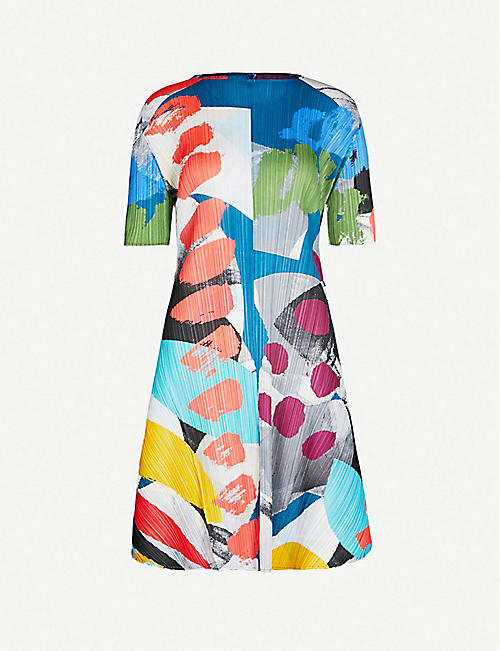 3dcc9dc98f PLEATS PLEASE ISSEY MIYAKE Laugh Rope printed pleated dress