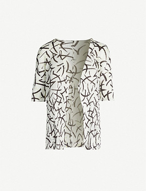 PLEATS PLEASE ISSEY MIYAKE Graphic-print crepe jacket