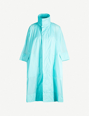 PLEATS PLEASE ISSEY MIYAKE Glass high-neck oversized shell jacket